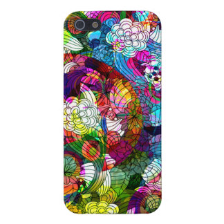 Colorful Romantic Floral Swirls Collage Case For iPhone SE/5/5s