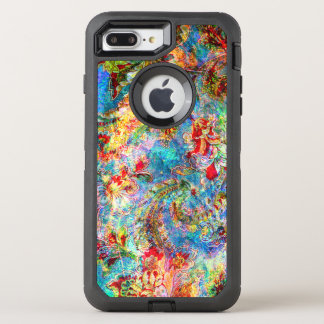 Colorful Romantic Grungy Vintage Floral Collage OtterBox Defender iPhone 8 Plus/7 Plus Case