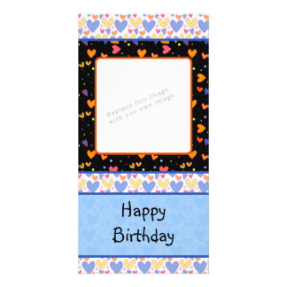 Colorful romantic heart design card