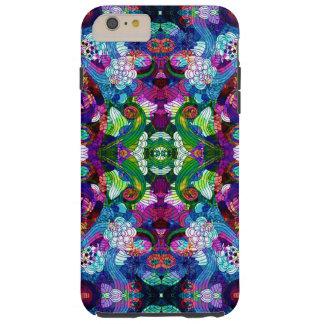 Colorful Romantic Retro Floral Symmetrical Collage Tough iPhone 6 Plus Case