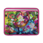 Colorful Romantic Vintage Floral Collage Pattern Sleeve For MacBook Air