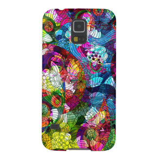 Colorful Romantic Vintage Floral Pattern Cases For Galaxy S5