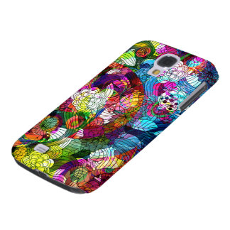 Colorful Romantic Vintage Floral Pattern Samsung Galaxy S4 Case