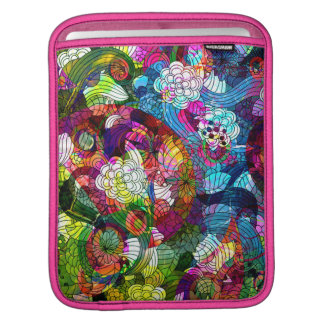 Colorful Romantic Vintage Floral Pattern Sleeve For iPads