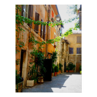 Colorful Rome Buildings Poster