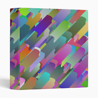 Colorful roof tiles 3 ring binder