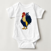 Colorful Rooster Baby Bodysuit