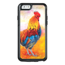 Colorful Rooster Digital Art Painting OtterBox iPhone 6/6s Case