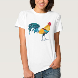 Colorful Rooster Ladies Babydoll T-shirt