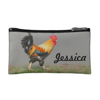 Colorful Rooster Painting Personalized Cosmetic Bag