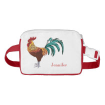 Colorful Rooster Personalized Waist Bag