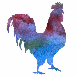 Colorful Rooster Pin Cutout
