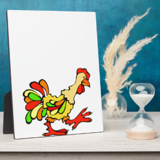Colorful Rooster Plaque