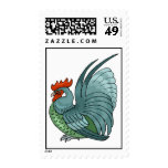 Colorful Rooster Postage Stamps