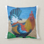 Colorful Rooster Throw Pillows