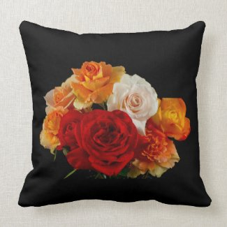 Colorful Rose Bouquet Pillows