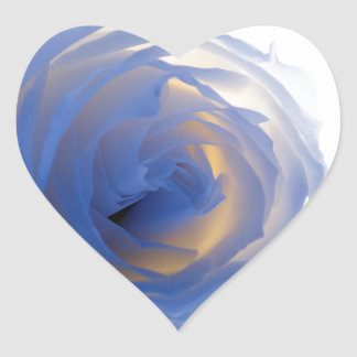 Colorful rose Photograph Heart Sticker