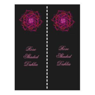 Colorful Rose Shaded Dahlia Bookmark Postcard