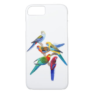 Colorful Rosella Parakeets iPhone 7 Case