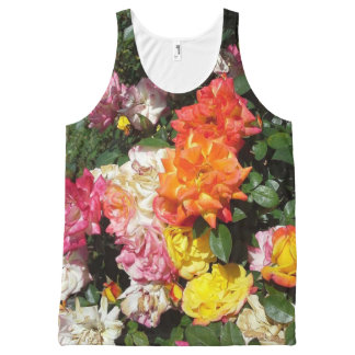 Colorful Roses All-Over Print Tank Top