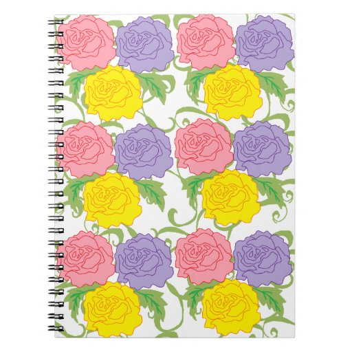 Colorful Roses and Vines Journal
