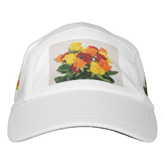 Colorful roses bouquet painting hat