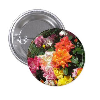 Colorful Roses Button