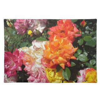 Colorful Roses Cloth Placemat