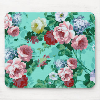 Colorful Roses & Flowers Mouse Pad
