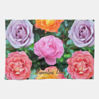 Colorful Roses Hand Towel
