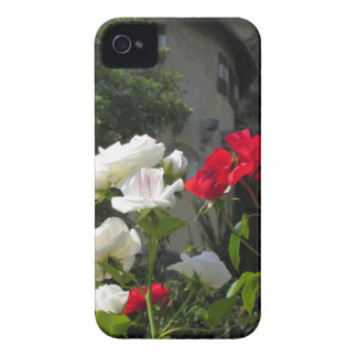 Colorful roses in castle's garden iPhone 4 cover