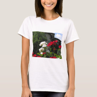 Colorful roses in castle's garden T-Shirt