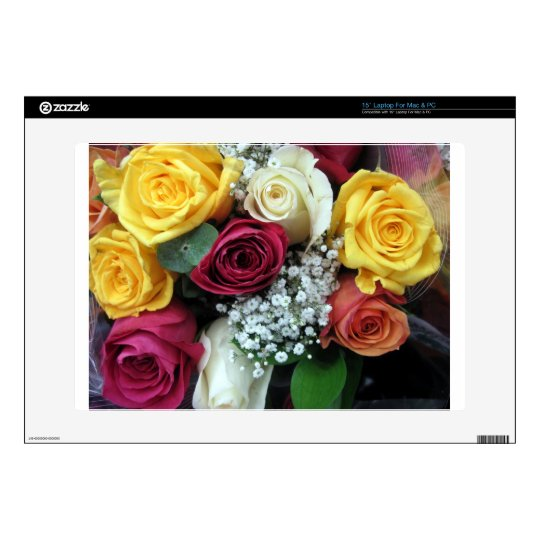 Colorful Roses Laptop Decal