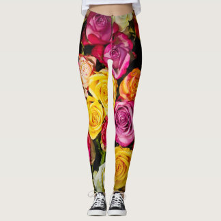 Colorful Roses Leggings