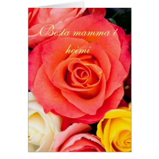 Colorful roses mother´s day card
