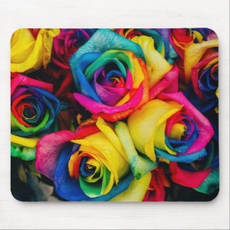 Colorful roses mouse pad
