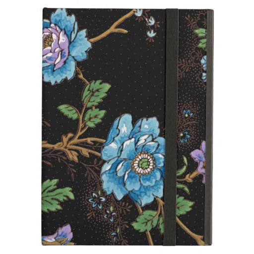 Colorful Roses & Oriental Poppies-Black Background Case For iPad Air