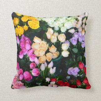 Colorful Roses Pillow