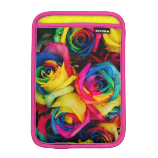 Colorful roses, pink sleeve for iPad mini