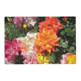 Colorful Roses Placemat