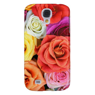 Colorful Roses Random Pattern Galaxy S4 Cover