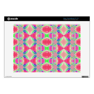 Colorful Rosey Pink Abstract Pattern Acer Chromebook Skin