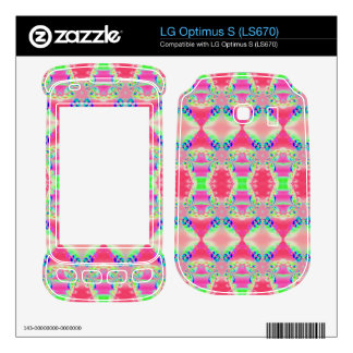 Colorful Rosey Pink Abstract Pattern LG Optimus S Decals