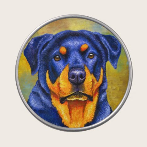 Colorful Rottweiler Cute Dog Candy Tin
