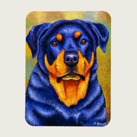 Colorful Rottweiler Dog Flexible Magnet