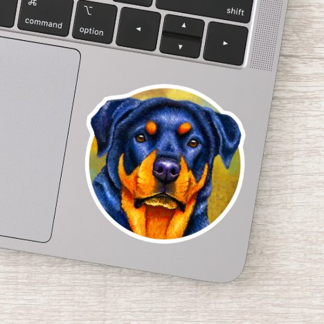Colorful Rottweiler Rottie Dog Vinyl Sticker