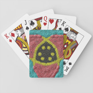 Colorful rough texture poker cards