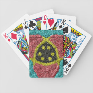 Colorful rough texture bicycle playing cards