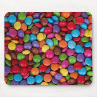Colorful Round Chocolate Candy Sweets Mouse Pad
