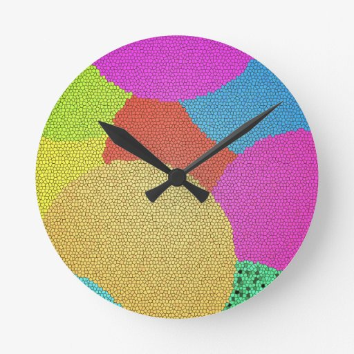 Colorful Round Wall Clocks